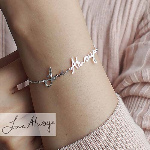 actual-handwriting-bracelet | Personalized Gift Ideas - giftsxoxo.com