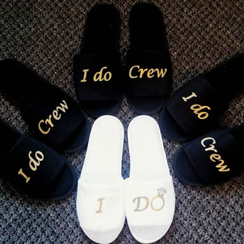 I-Do-Crew-Bridesmaid-Slippers | Bridesmaid Gifts