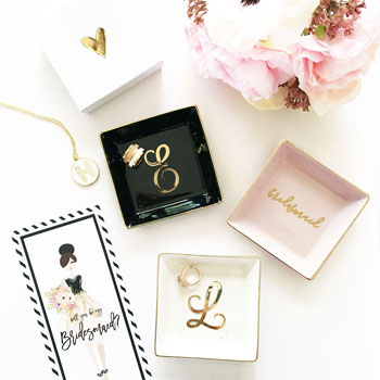 Monogram-Jewelry-Dish | Bridesmaid Gifts