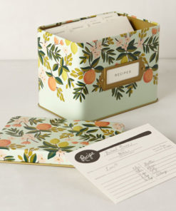 Rifle Paper Co. Recipe Box Citrus Floral
