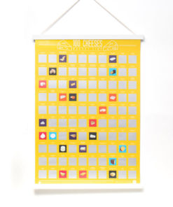 100 Cheeses Scratch Poster is the big cheese of dairy-themed scratch off posters.