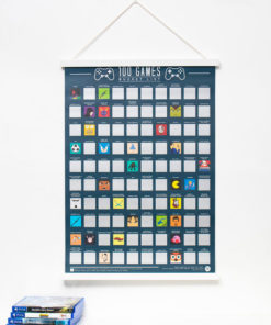100 Games Scratch Poster to Play your way through 100 games both obscure and classic games.
