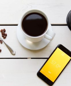 Ember Temperature Control Smart Mug with App. Not only can you remotely adjust the temperature from anywhere in the world, but also set a personalised LED colour, save multiple presets for different drinks, and switch between Celsius and Fahrenheit.