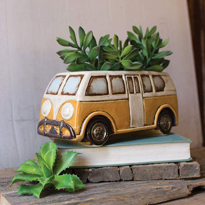 Camper Planter | 21 Clever Gift Ideas for Campers & Hikers (BEST Outdoor gifts Ever!)