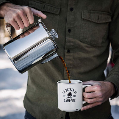 Coffee Percolator for Campers | 21 Clever Gift Ideas for Campers & Hikers (BEST Outdoor gifts Ever!)