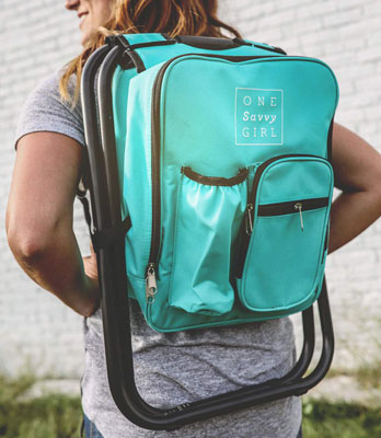 Ultralight Backpack Cooler Chair for women | 21 Clever Gift Ideas for Campers & Hikers (BEST Outdoor gifts Ever!)